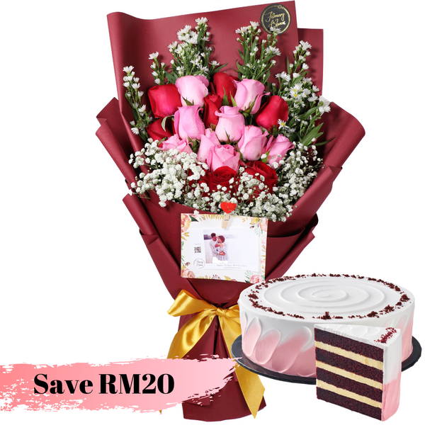 Rosy Love Red Velvet Cake Bundle