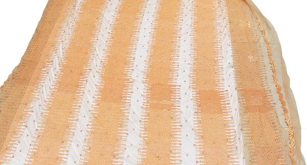 Net Thread Pearl Embroidered Fabric,Width 58'' Inches.