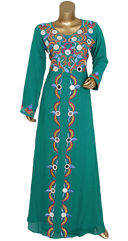 Pure Chiffon Hand Embroidered Kaftan