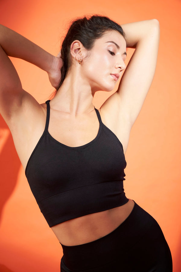 No Scratch! Seamless Power Bra in Black