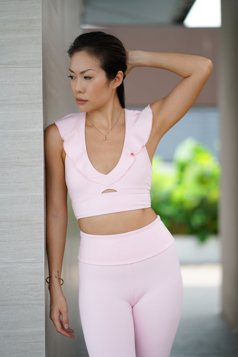 Fluid Legging in Pink - Rangoon Singapore