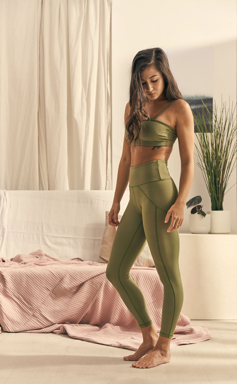 Isabel 7/8 Legging in Palm Green - Rangoon Singapore