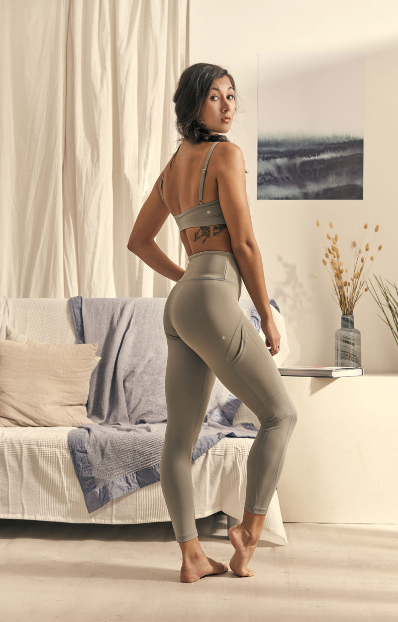 Isabel 7/8 Legging in Slate Grey - Rangoon Singapore