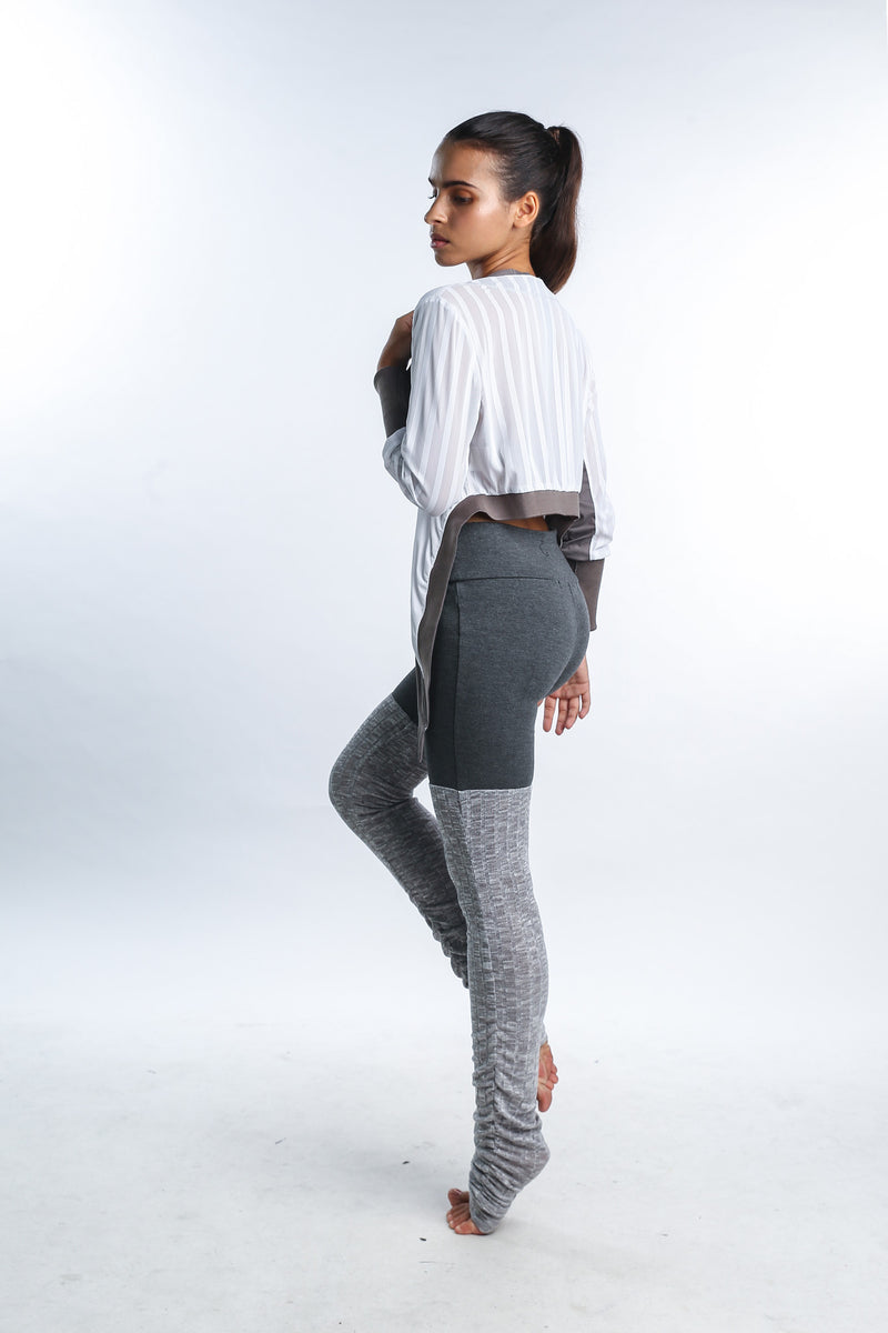 Cosmic Crop Cardi in White - Rangoon Singapore