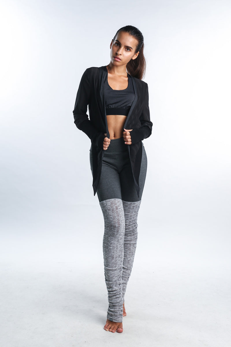 Cosmic Crop Cardi in Black - Rangoon Singapore