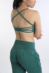 Freida Breathe Bra in Green