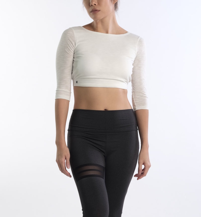 Alena Fly Crop in White - Rangoon Singapore