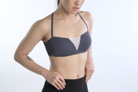 Freida Breathe Bra in Grey