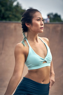 Fiji Halter Bra in Mint