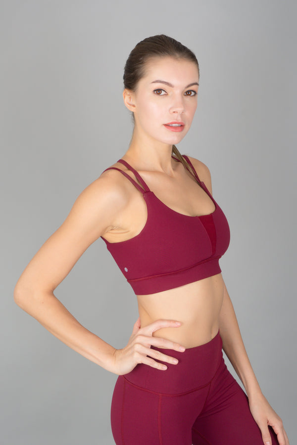 I-like-em Strappy Bra in Merlot - Rangoon Singapore