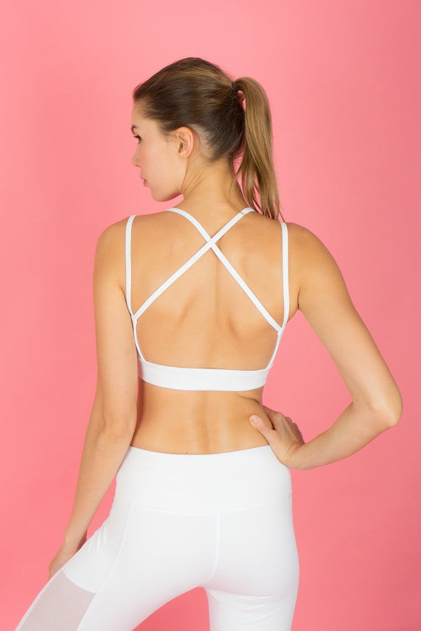 I-like-em Strappy Bra in Snow