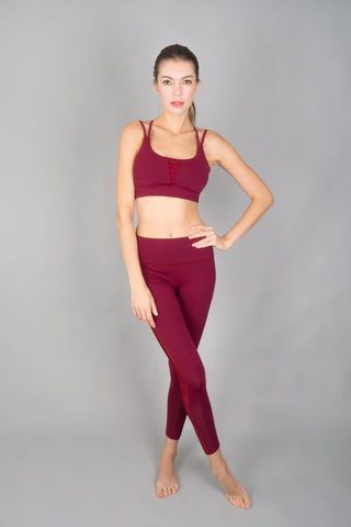 I-like-em Strappy Bra in Merlot
