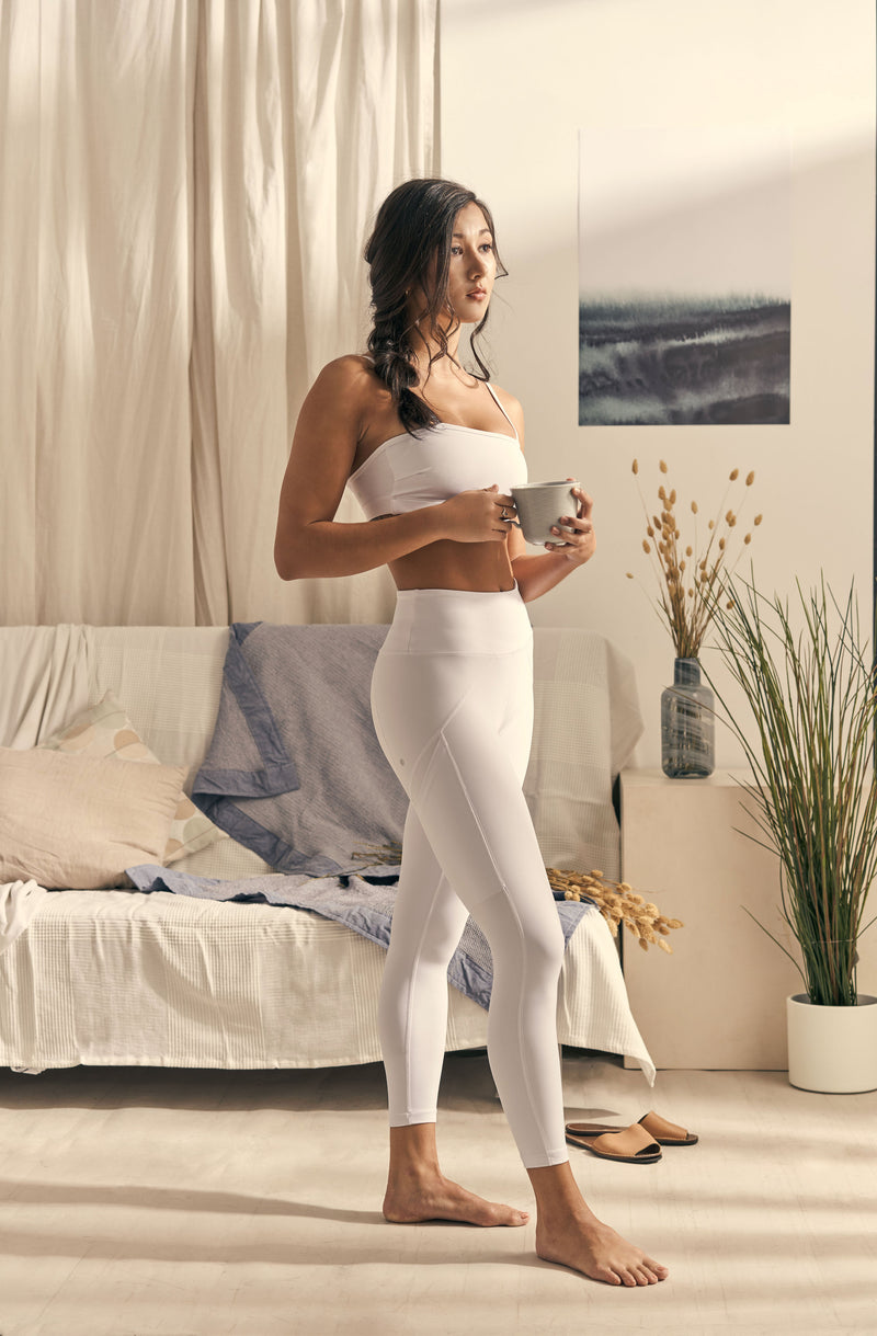 Isabel 7/8 Legging in Cloud White - Rangoon Singapore