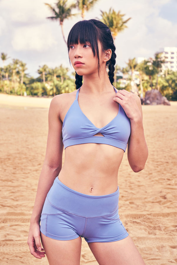 Fiji 2.0 Halter Bra in Park Bench Blue - Rangoon Singapore
