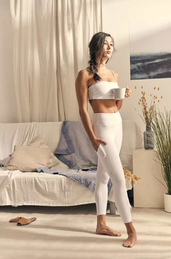 Isabel 7/8 Legging in Cloud White