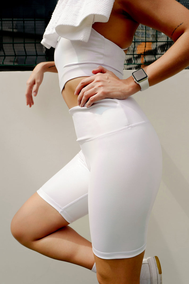 Ninja Biker Short in White