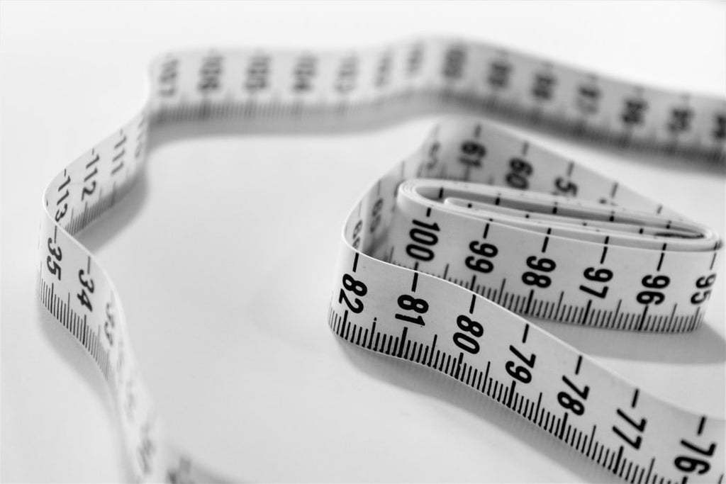 A tape measure used for weight management and sewing
