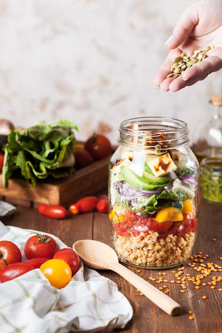 healthy food in a jar
