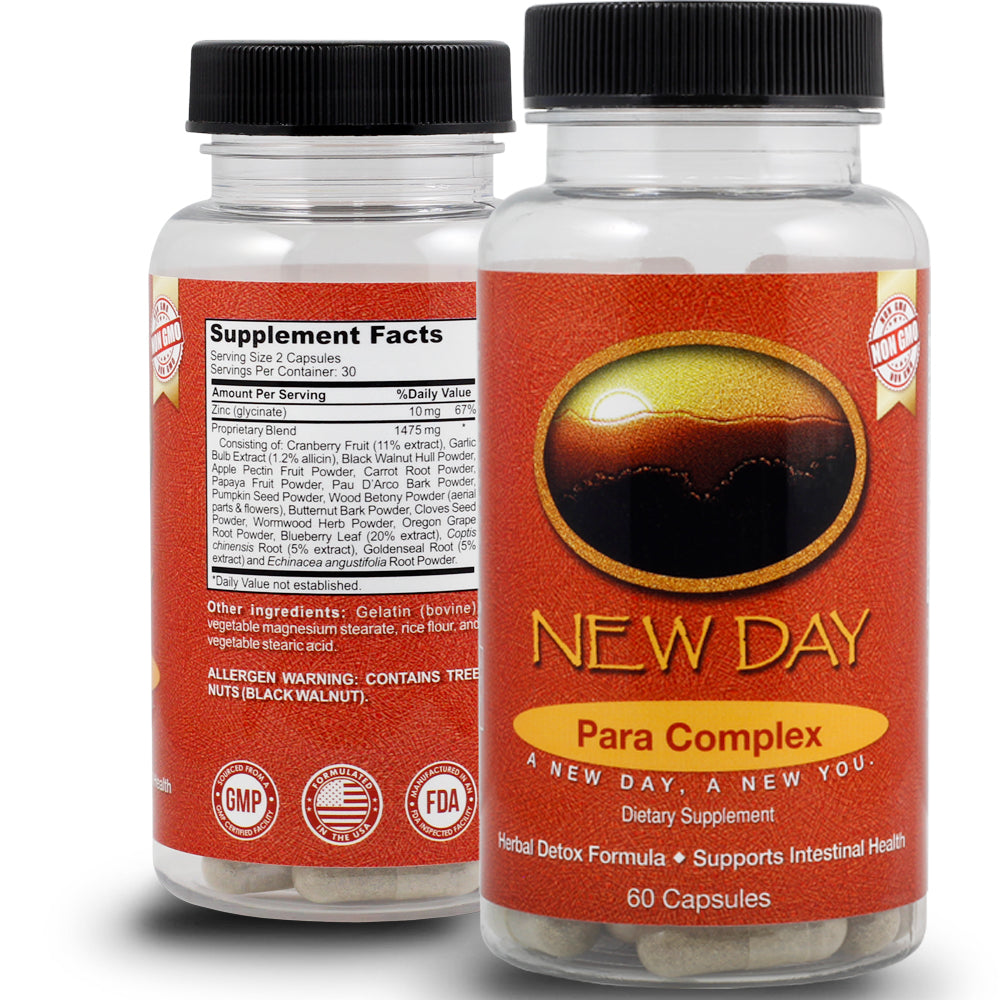 10 Day Parasite Complex for Adults | 60 Non-GMO Capsules