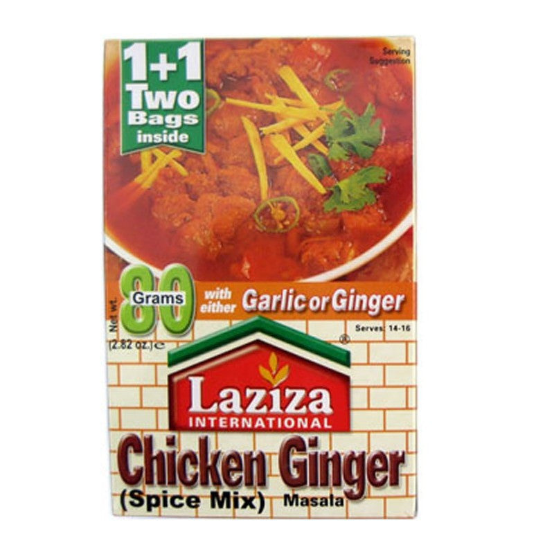 Laziza Chicken Ginger Masala 80g-Instant Mixes-Mullaco Online