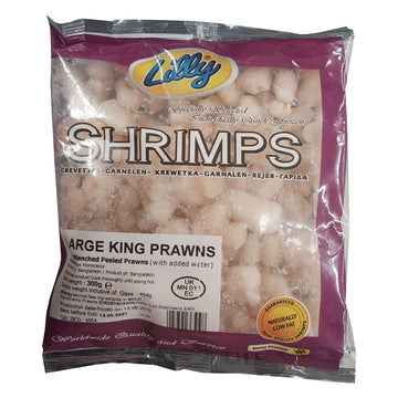 Lilly Shrimps IQF Blanched Peeled Prawns, 300g