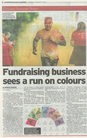 Ministry of Colours in the Huddersfield Examiner