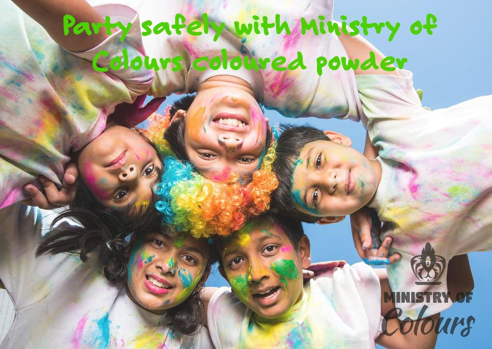Non-flammable coloured powder from Ministry of Colours