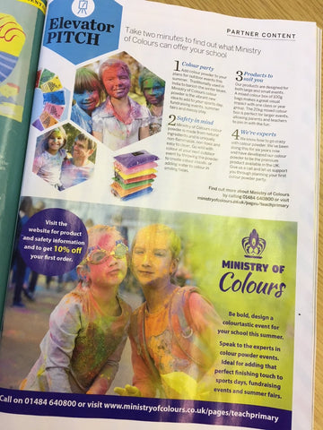 Ministry of Colours in Teach Primary magazine