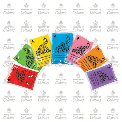 Mixed Holi Colour Powder - 100 x 100g packets