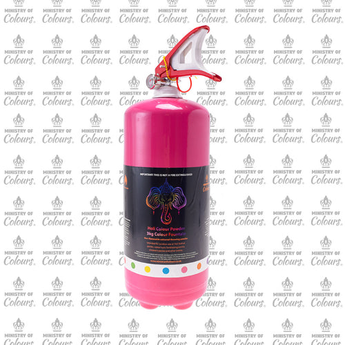 Pink Colour Powder Fountain