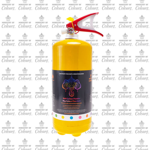 Yellow Colour Powder Fountain