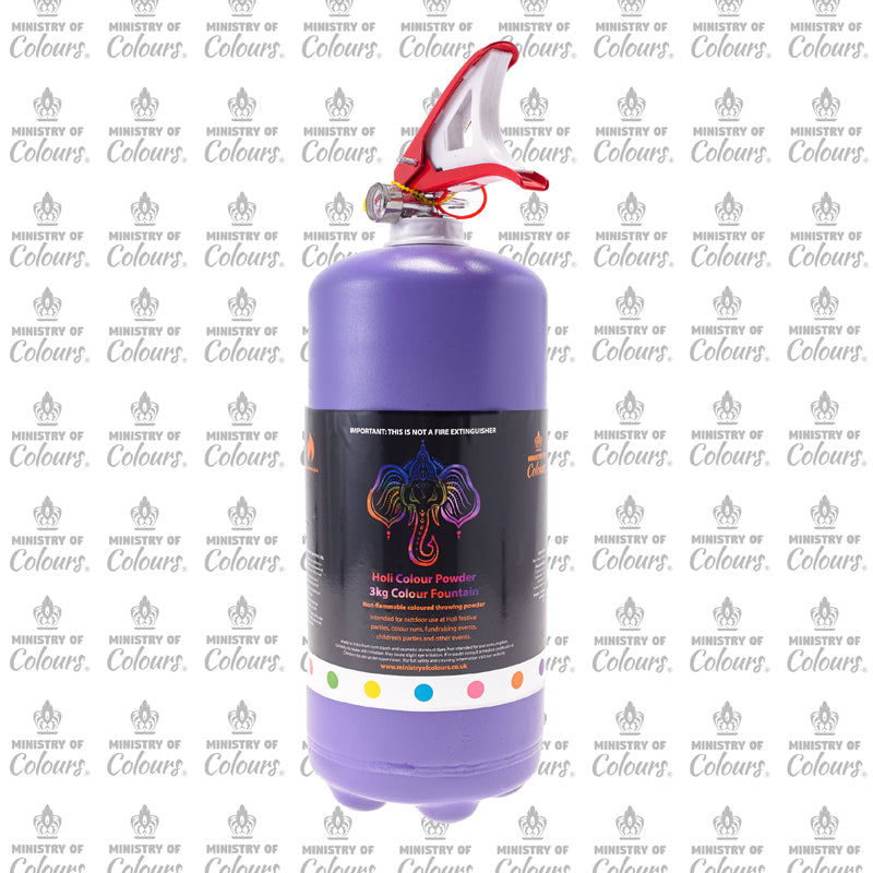 Purple Colour Powder Fountain