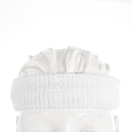 white stretch headband