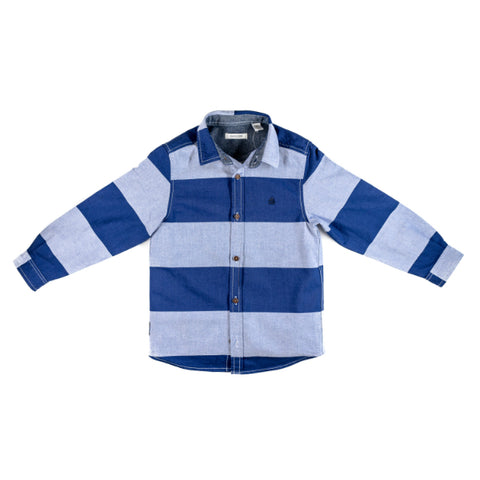 Thick Strips Long Sleeve Shirt (Blue)