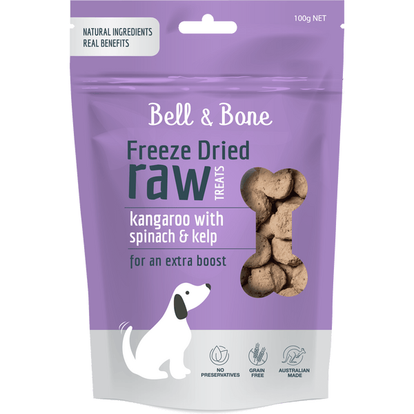 Bell And Bone Kangaroo With Spinach And Kelp 150g - Petzyo