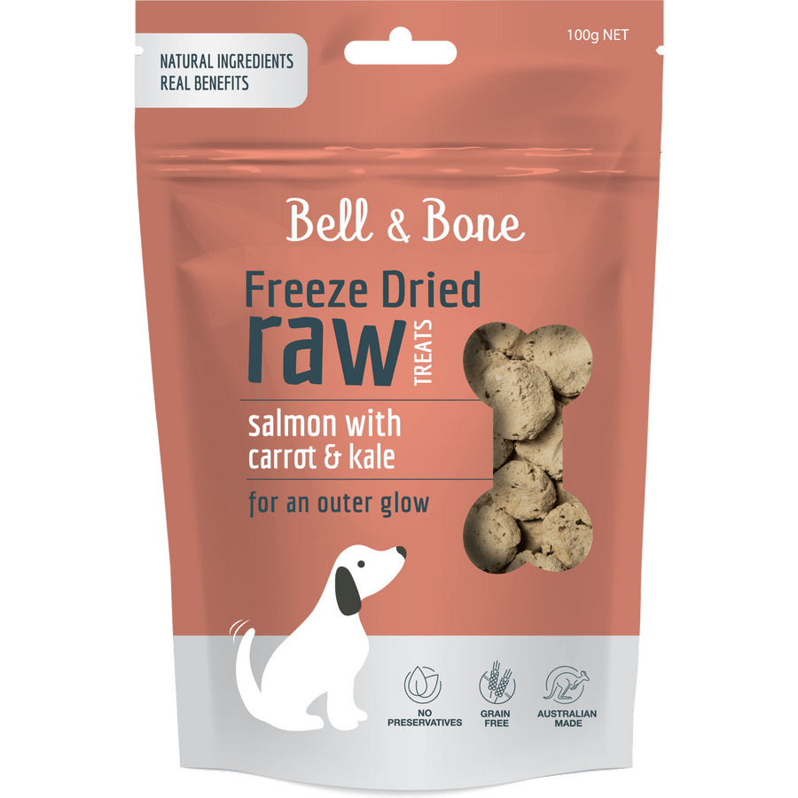 Bell & Bone Dog Treats - Salmon, Carrot & Kale 150g - Petzyo