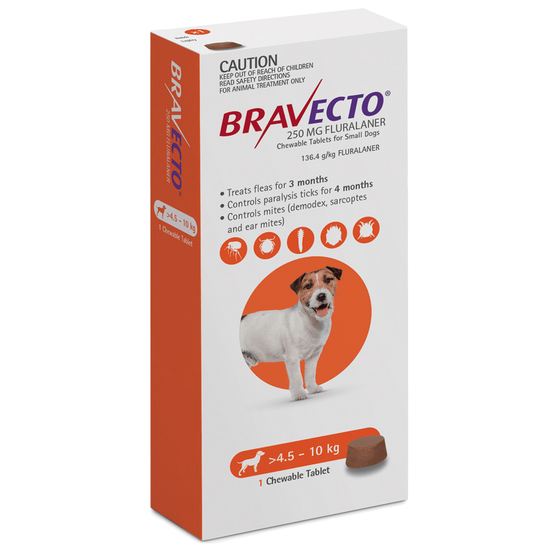 Bravecto Small Dog Orange 4.5-10kg 1-Pack - Petzyo