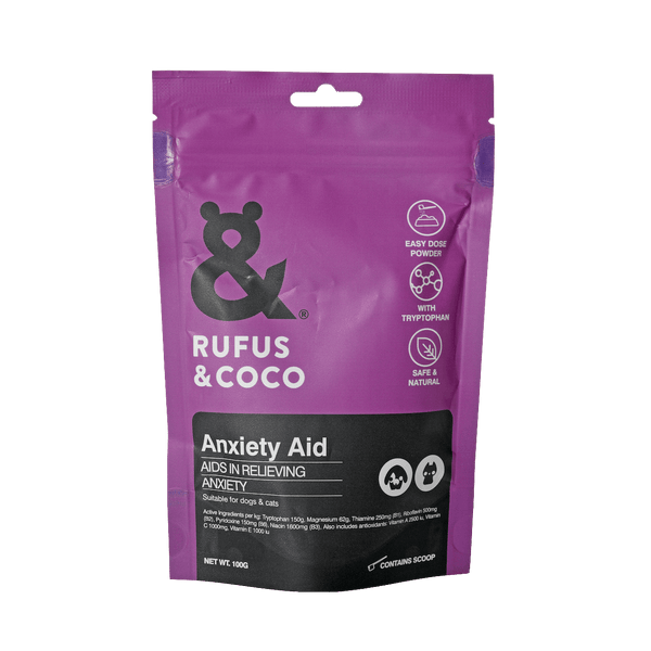 Rufus & Coco - Anxiety-Aid 100G Dog Supplements - Petzyo