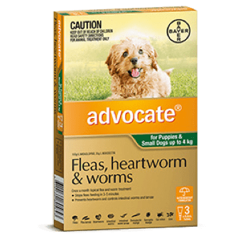 Advocate Treatment for Small Dogs 0-4Kg - 3's (Green) - Petzyo