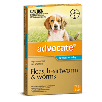 Advocate Treatment for Medium Dogs 4-10Kg 1's (Teal) - Petzyo