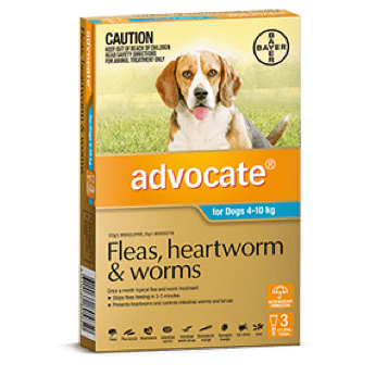 Advocate Treatment for Medium Dogs 4-10Kg - 3's (Teal) - Petzyo