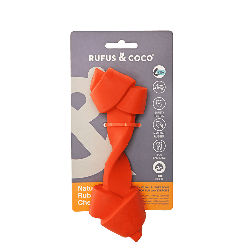 Rufus and Coco Natural Rubber Chew Toy - Multiple Colours - Petzyo