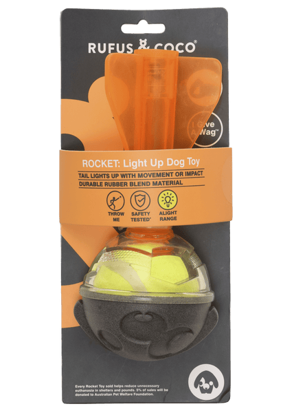 Rufus & Coco - Rocket: Light Up - Dog Toy - Petzyo