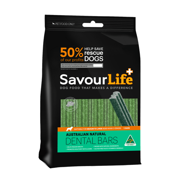 Savourlife Natural Dog Dental Bars - Large (5) - Petzyo