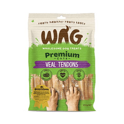 Get Wag Veal Tendons Multiple Sizes - Petzyo