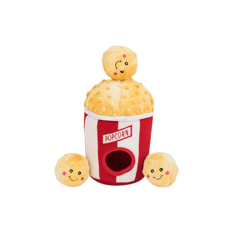 Zippy Paws - Plush Toy for Dogs - Popcorn Bucket - Petzyo