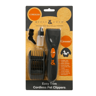 RUFUS & COCO <span> EASY TRIM PET CLIPPERS </span> CORDLESS - Petzyo