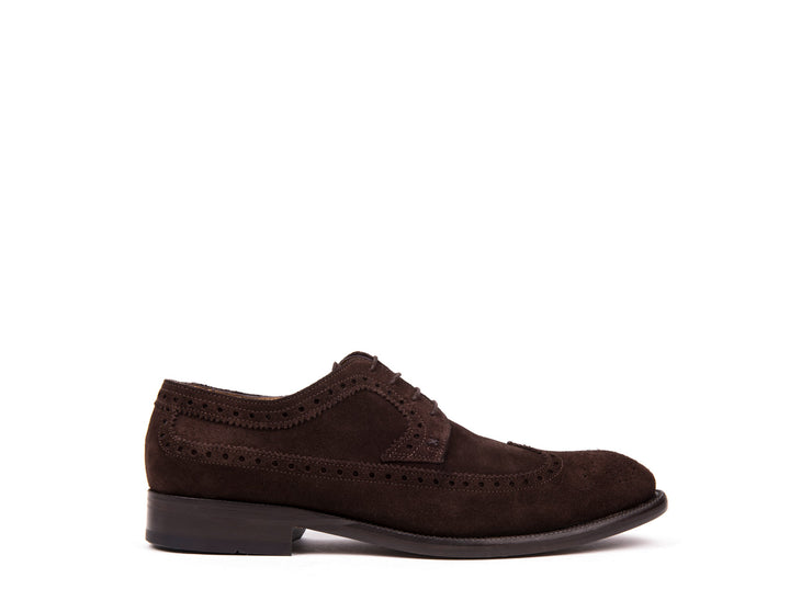 Brogue  // Dark Brown Suede