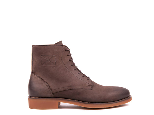 Lace Up Boots // Dark Brown Nobuck
