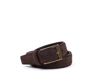 Belt // Dark Brown Suede